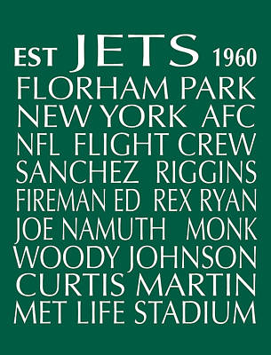 Digital Art - New York Jets by Jaime Friedman
