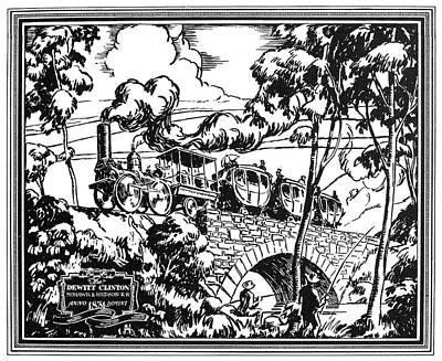Hudson River Drawing - New York Locomotive, 1831 by Granger