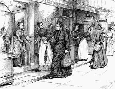 New York Milliner, 1889 Art Print by Granger