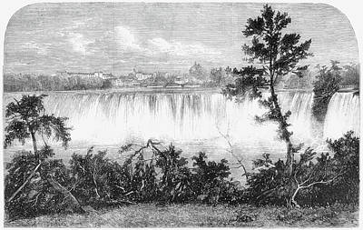 Bridal Veil Falls Painting - New York Niagara Falls by Granger