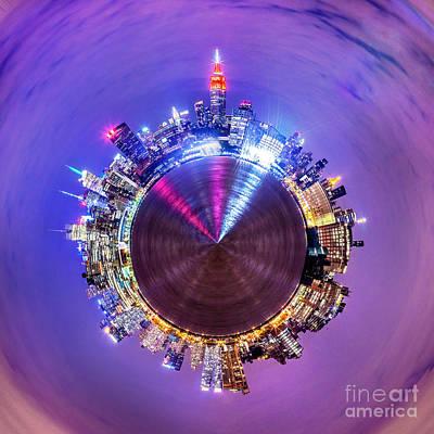 Bright Lights Photograph - New York Skyline Circagraph by Az Jackson