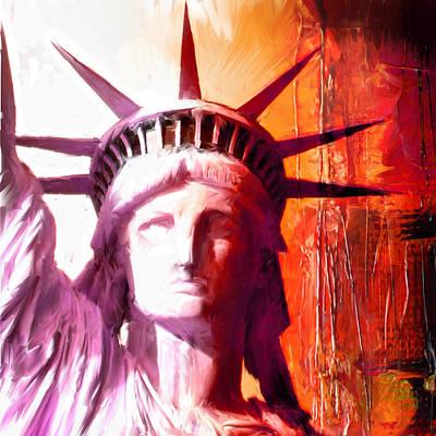 New York Statue Of Liberty Original by Michael Kuelbel