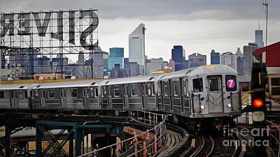 Mixed Media - New York Train by Marvin Blaine