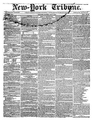 New York Tribune, 1841 Art Print