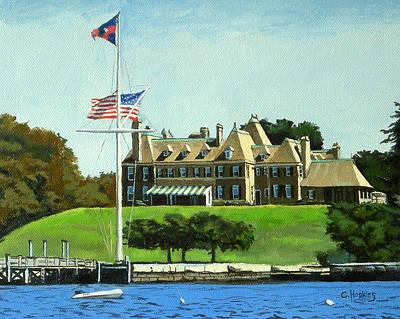 Shell Beach Inn Painting - New York Yacht Club Newport Rhode Island by Christine Hopkins