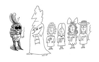 New Yorker December 7th, 1968 Art Print by Saul Steinberg