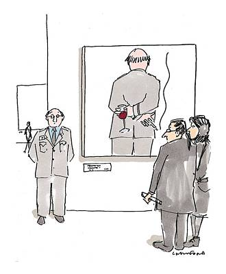 Wine Art Drawing - New Yorker December 7th, 1998 by Michael Crawford