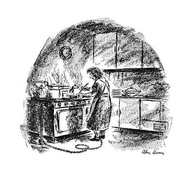 Bakery Drawing - New Yorker July 15th, 1944 by Alan Dunn