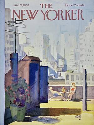 Deck Chair Painting - New Yorker June 22nd 1963 by Arthur Getz