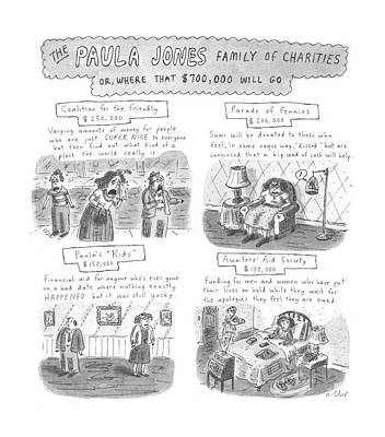 Charity Drawing - New Yorker June 23rd, 1997 by Roz Chast