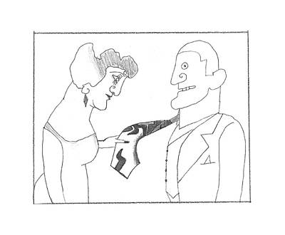 Drawing - New Yorker March 14th, 1994 by Saul Steinberg