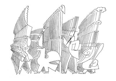 Icon Drawing - New Yorker May 25th, 1968 by Saul Steinberg