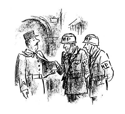 Europe Drawing - New Yorker October 28th, 1944 by Alan Dunn