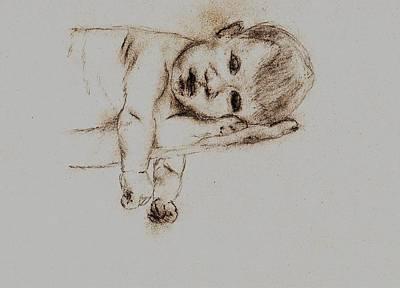 Angelic Drawing - Newborn Bliss by Shaunna Juuti