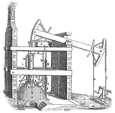 18th Century Photograph - Newcomen Steam Engine by Science Photo Library