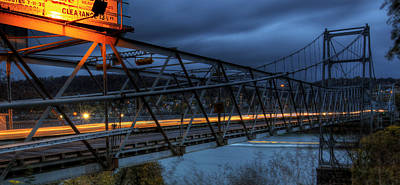 Fiestaware Photograph - Newell Toll Bridge by David Dufresne