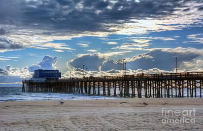 Pier Digital Art - Newport Beach Pier by Eddie Yerkish