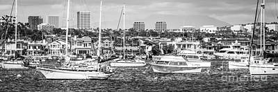 Upscale Photograph - Newport Beach Skyline Panorama Photo by Paul Velgos