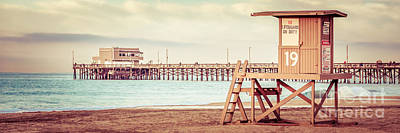 Shack Photograph - Newport Pier And Lifeguard Tower 19 Vintage Picture by Paul Velgos