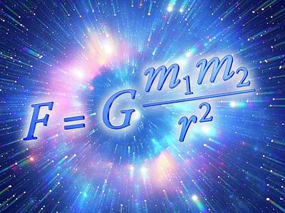 Naturalis Photograph - Newton's Law Of Universal Gravitation by Alfred Pasieka