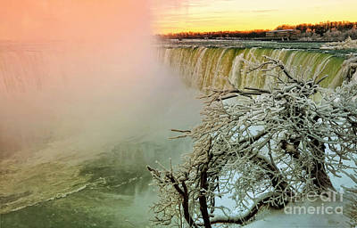 Photograph - Niagara Winter Sunset by Charline Xia