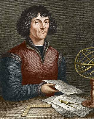 Nicolaus Copernicus 1473-1543 Print by Sheila Terry