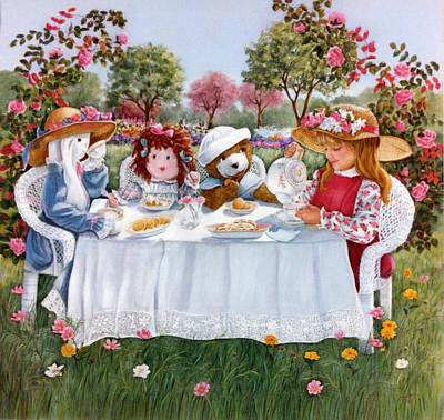 Painting - Nicole's Magic Tea Party by Ann Peck