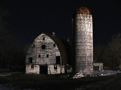 Night Barn Art Print