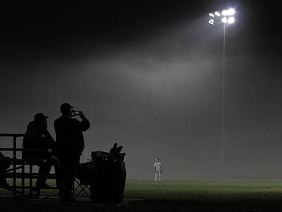 Photograph - Night Baseball by Frank Romeo