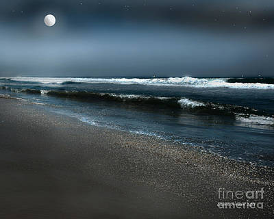 Photograph - Night Beach  by Artist and Photographer Laura Wrede