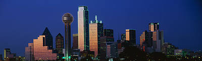 Night, Cityscape, Dallas, Texas, Usa Art Print by Panoramic Images