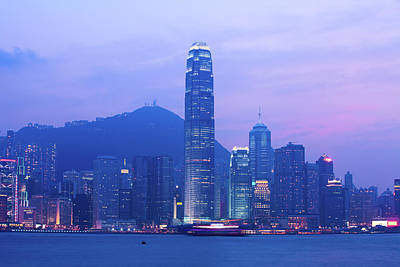 Photograph - Night Cityscape Of Hongkong by Ithinksky