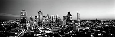 Night, Dallas, Texas, Usa Art Print by Panoramic Images