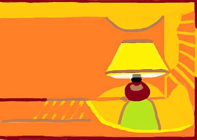Night Lamp  Art Print by Anita Dale Livaditis