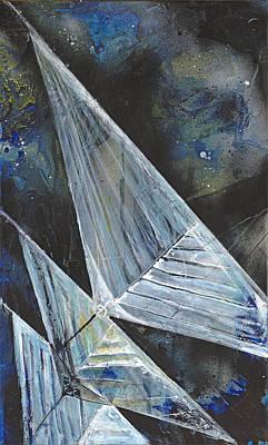 Sailing At Night Painting - Night Sails by Tanya Kimberly Orme