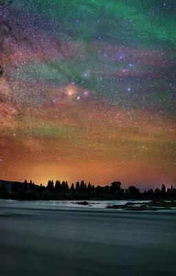 Antares Photograph - Night Sky Over Grand Teton National Park by Babak Tafreshi