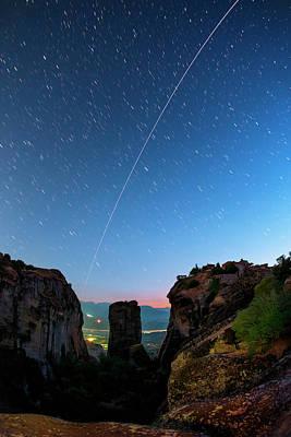 Night Sky Over Meteora Art Print by Babak Tafreshi
