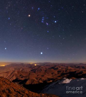 Betelgeuse Photograph - Night Sky, Zagros Mountains, Iran by Babak Tafreshi