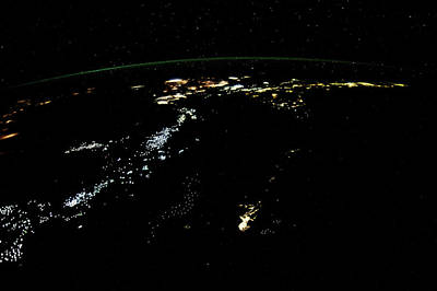 Space Exploration Photograph - Night Time Satellite Image by Panoramic Images