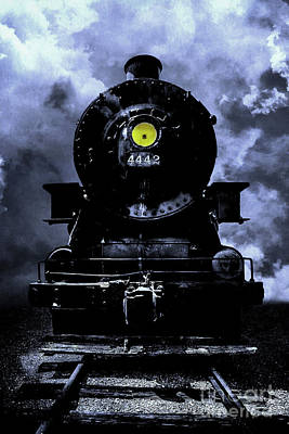 Express Way Photograph - Night Train Essex Valley Railroad by Edward Fielding