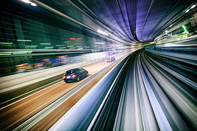 Photograph - Night Train In Japan by Rich Legg