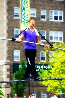 Photograph - Nik Wallenda by Rexford L Powell