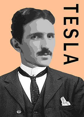 Xray Digital Art - Nikola Tesla by Daniel Hagerman