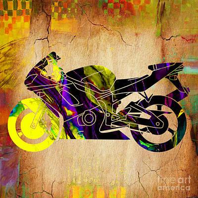 Ninja Bike Art Print
