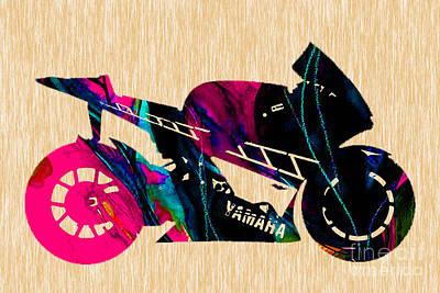 Motorcycles Mixed Media - Ninja by Marvin Blaine