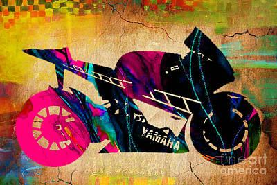 Ninja Street Bike Art Print by Marvin Blaine