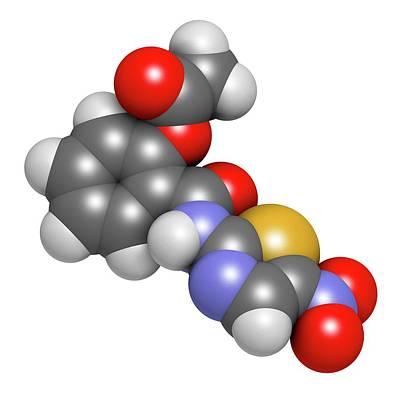 Nitazoxanide Antiprotozoal Drug Molecule Art Print