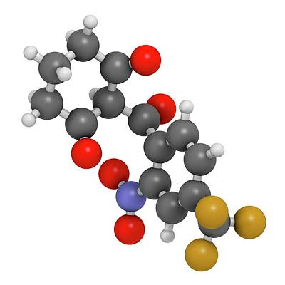 Nitisinone Drug Molecule Art Print