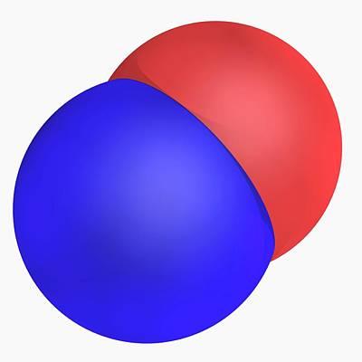 Nitrogen Monoxide Molecule Art Print by Laguna Design/science Photo Library