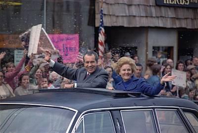 Nixon 1972 Re-election Campaign Art Print by Everett